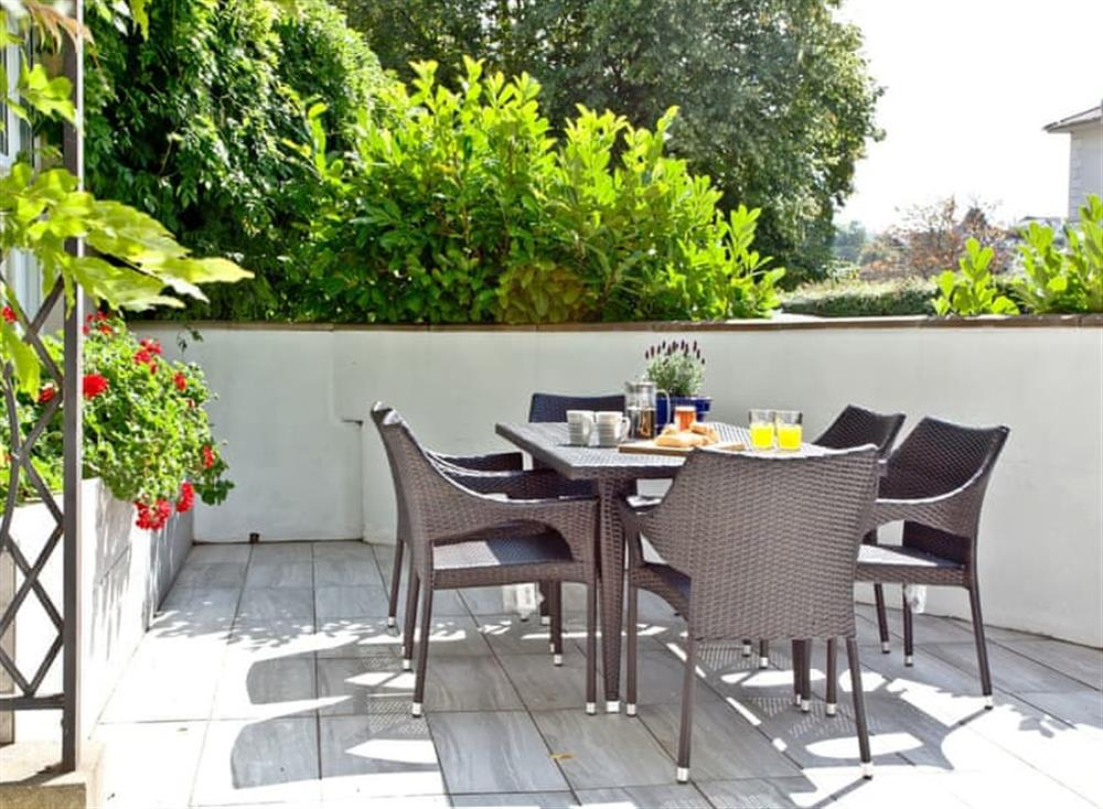 Delightful outdoor space with table and chairs