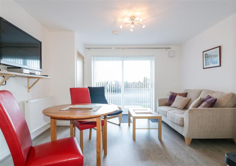 The living area at 1 Astor Court, Newquay