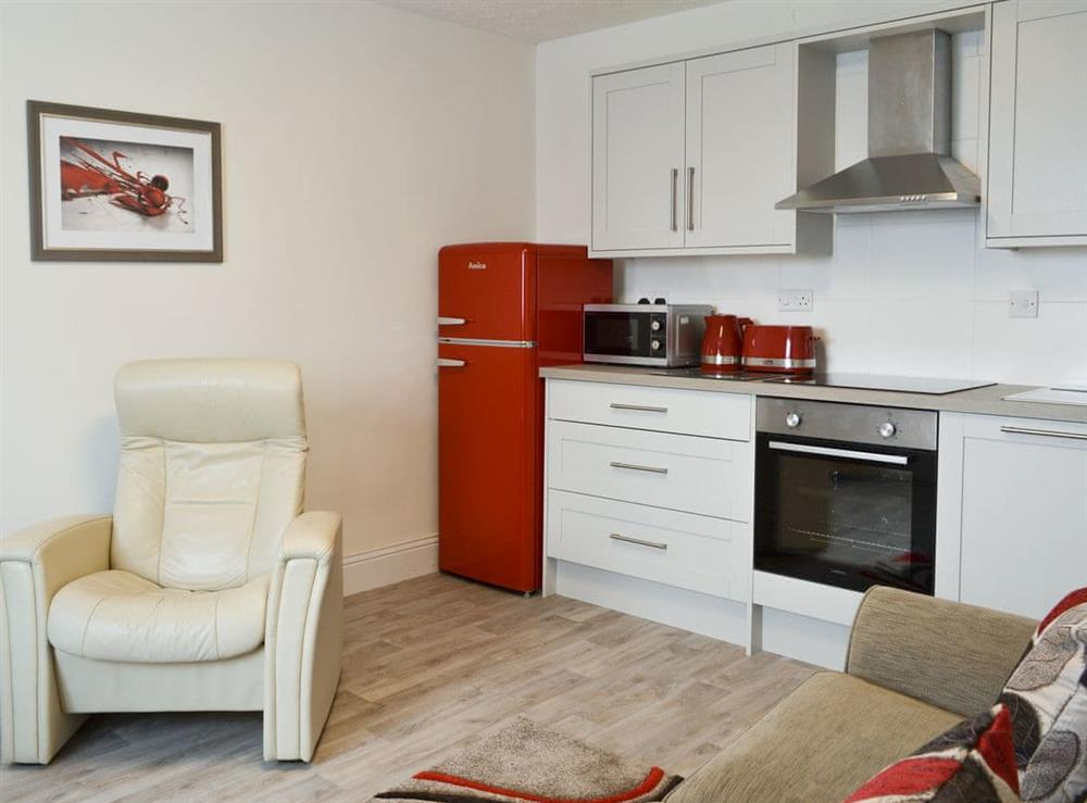 Open plan living space at 1 Bell Water Holiday Cottages in Midville, near Boston, Lincolnshire