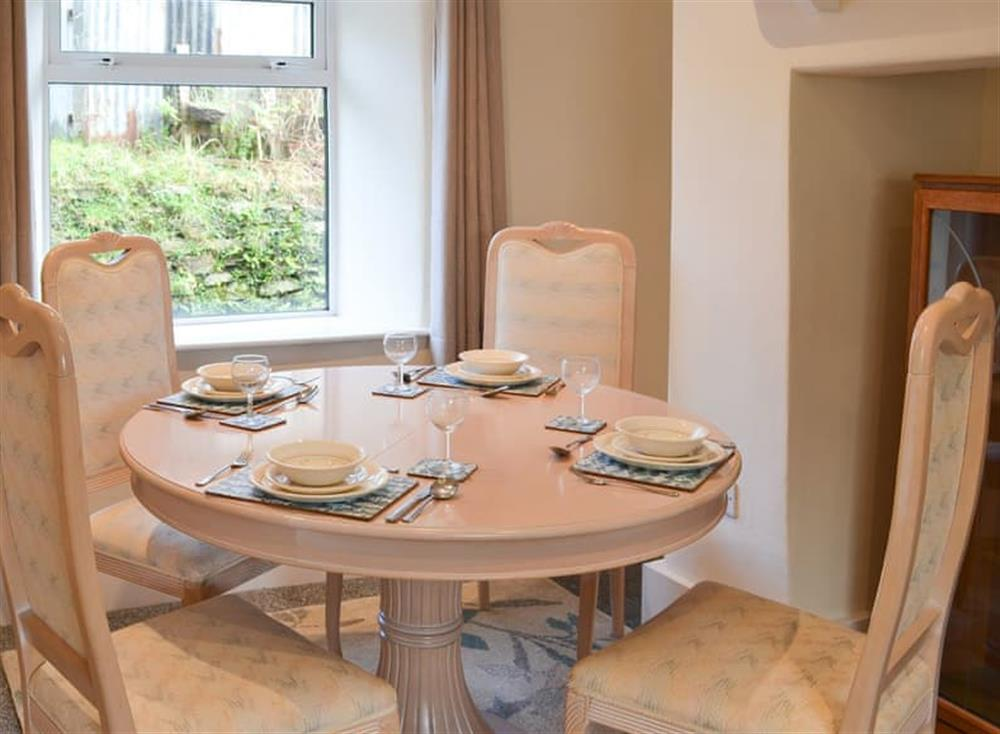 Charming dining table and chairs at 1 Below Chapel in Blackawton, near Dartmouth, Devon