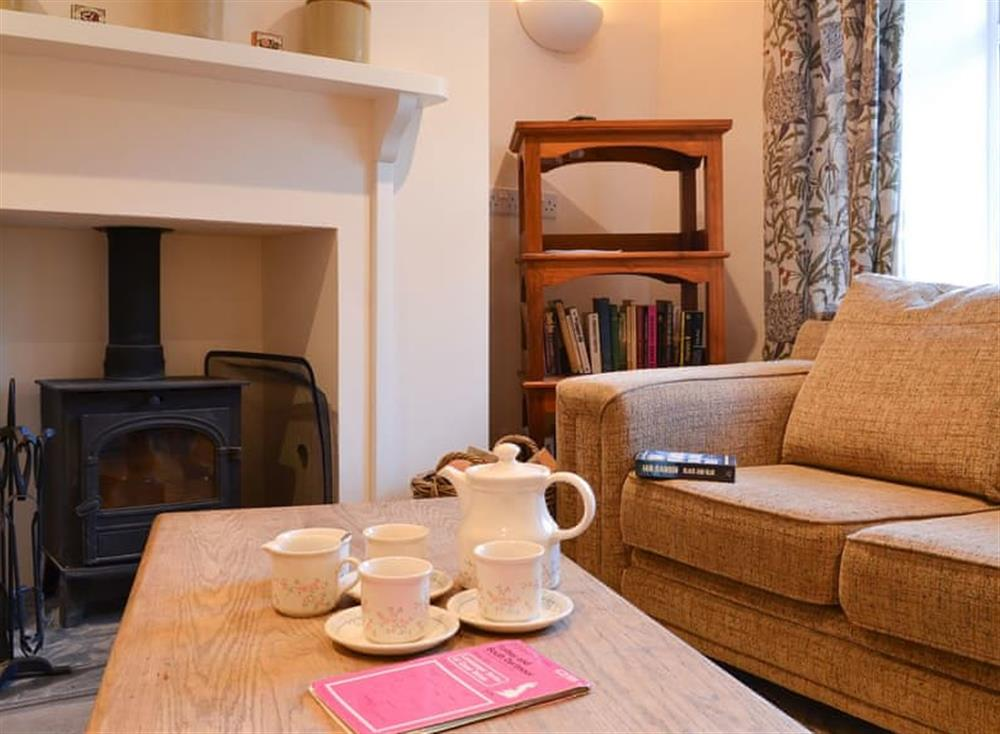 Comfortable and welcoming living room at 1 Below Chapel in Blackawton, near Dartmouth, Devon