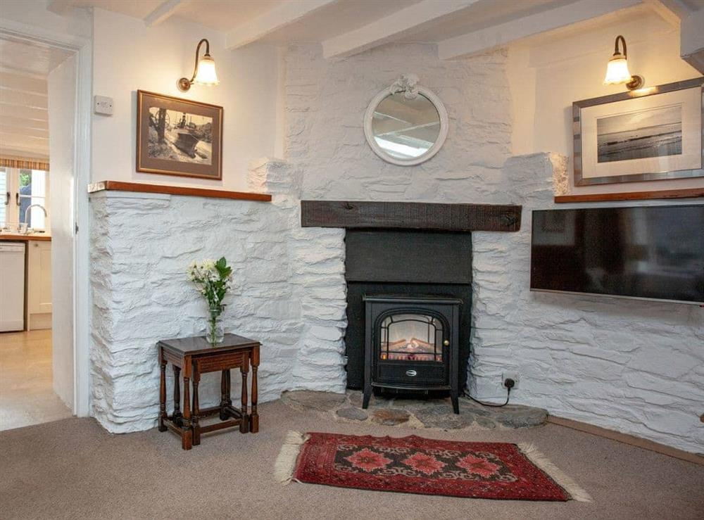 Living room at 1 Castle Cottage in Bow Creek, Nr Totnes, South Devon., Great Britain