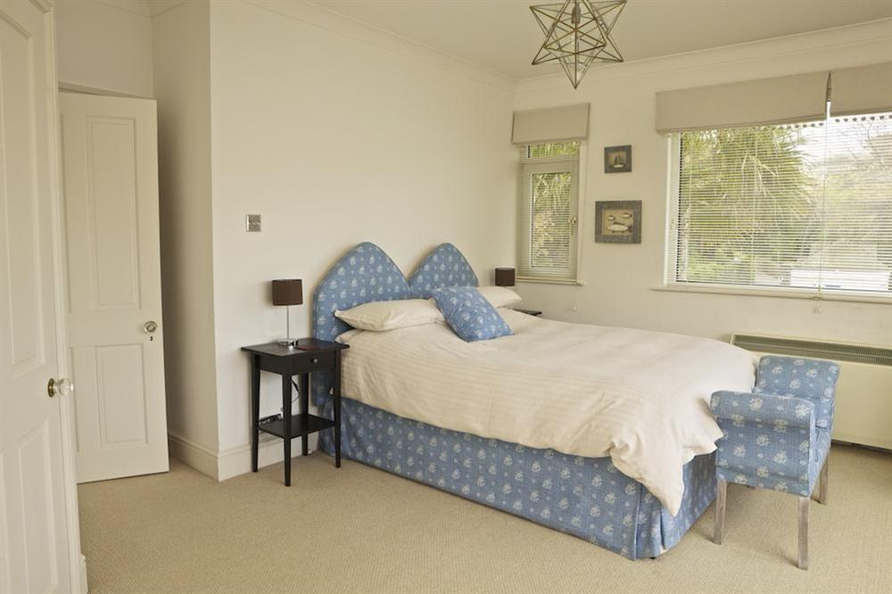 Double bedroom with panoramic views along the River Dart towards the Naval College (photo 2) at 1 Galions Quay in , Dartmouth