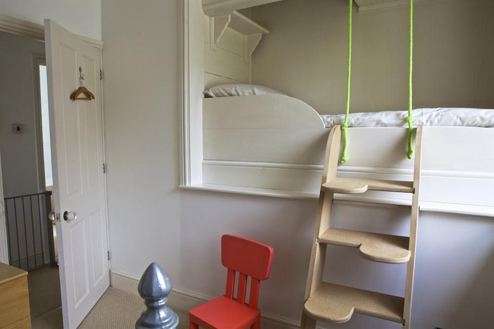 Ideal bedroom for children as it has a full size single bed and raised cabin bed (photo 2) at 1 Galions Quay in , Dartmouth