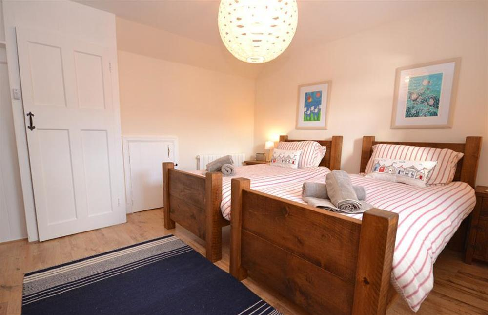 Another view of the twin bedroom at 1 River View, Stoke Gabriel