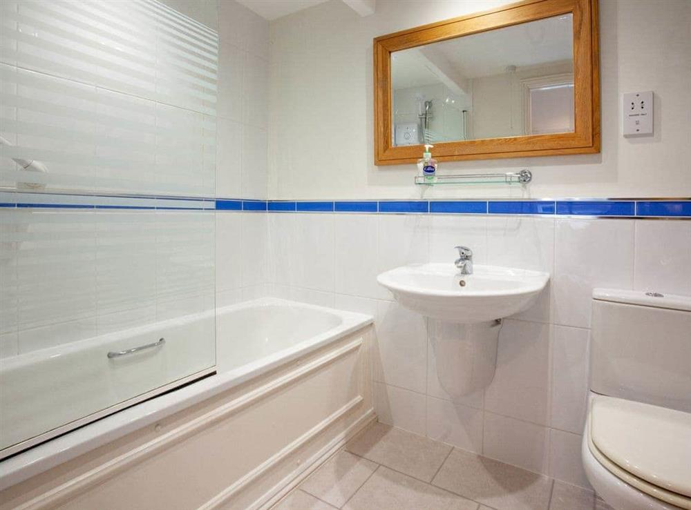 Bathroom at 1 Salle Cottage in Bow Creek, Nr Totnes, South Devon., Great Britain