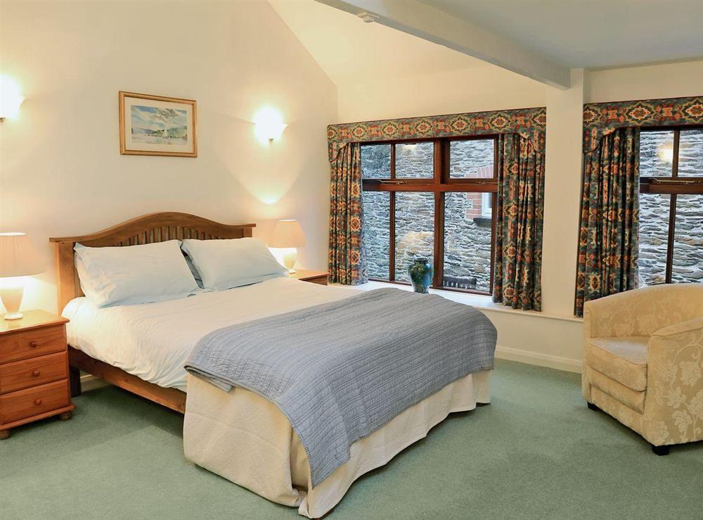 Double bedroom at 1 Salle Cottage in Bow Creek, Nr Totnes, South Devon., Great Britain