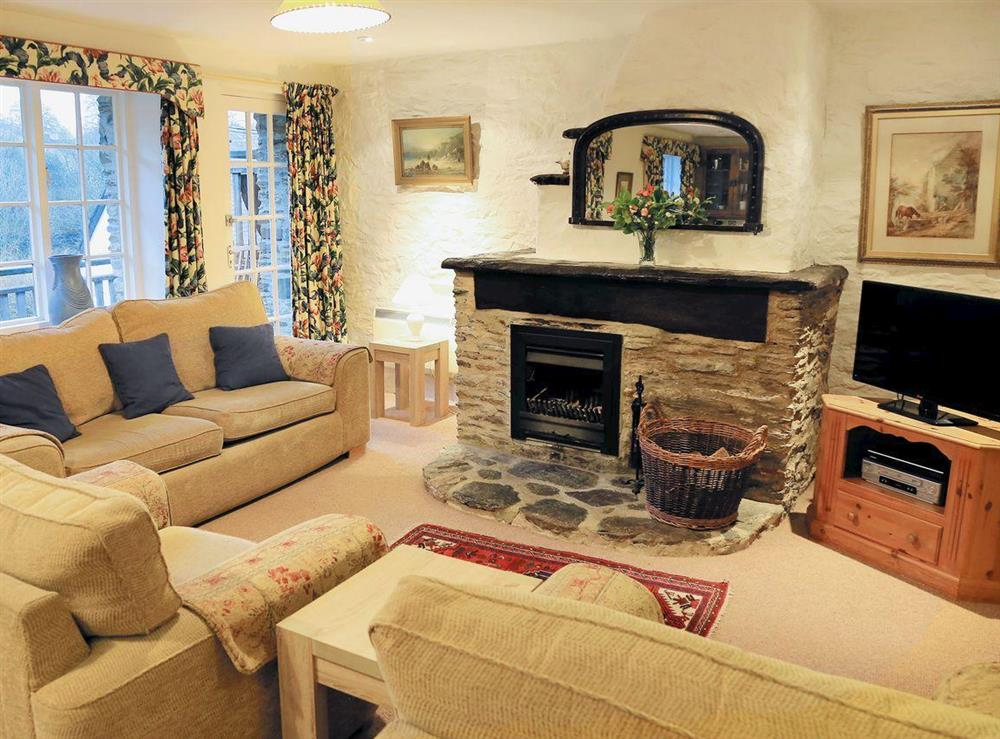 Open plan living/dining room/kitchen at 1 Salle Cottage in Bow Creek, Nr Totnes, South Devon., Great Britain