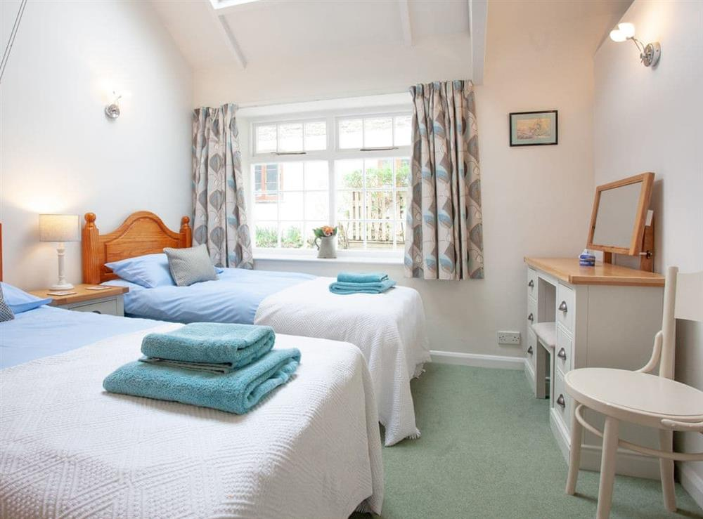 Twin bedroom at 1 Salle Cottage in Bow Creek, Nr Totnes, South Devon., Great Britain