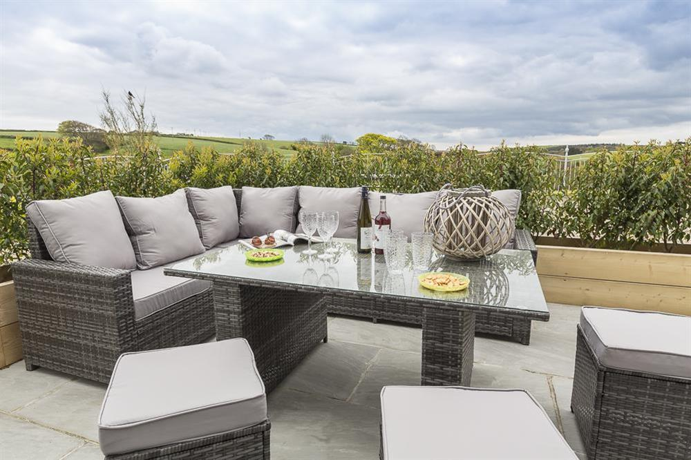 Large terrace area with garden furniture (photo 2) at 1 The Manor House, Hillfield Village in , Hillfield, Dartmouth