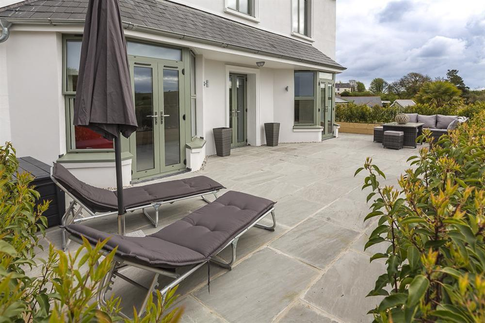 Large terrace area with garden furniture (photo 4) at 1 The Manor House, Hillfield Village in , Hillfield, Dartmouth
