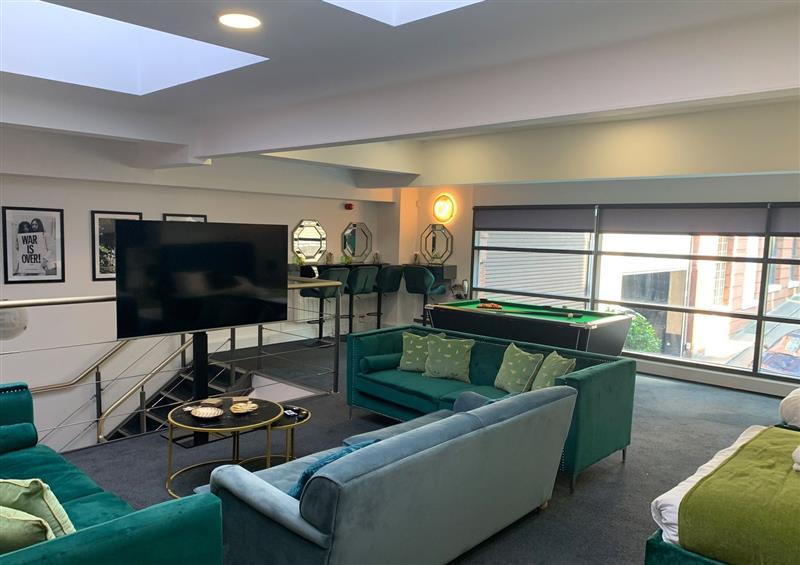 Enjoy the living room at 11 Hatton Garden, Liverpool