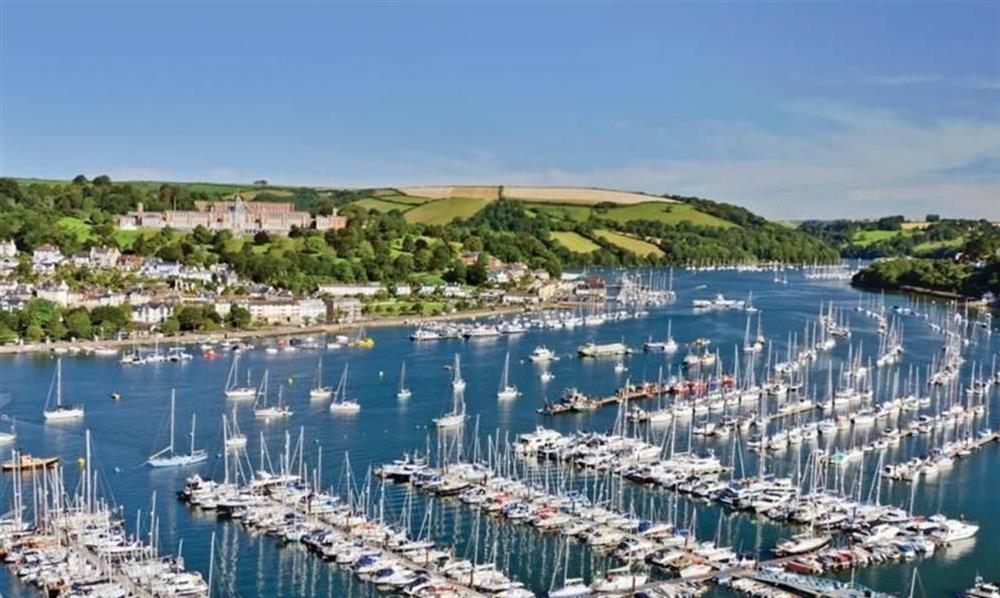 Looking across Darthaven Marina towards Dartmouth Naval College