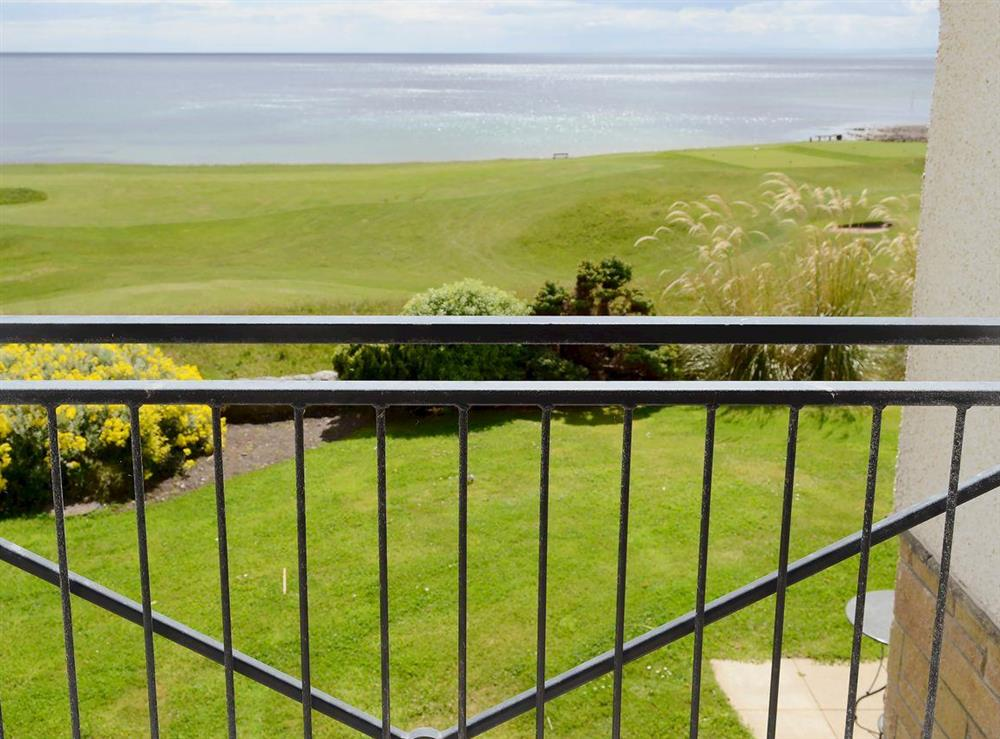 Wonderful panoramic views towards the sea at 12 Links Apartments in Brora, Northern Highlands, Sutherland