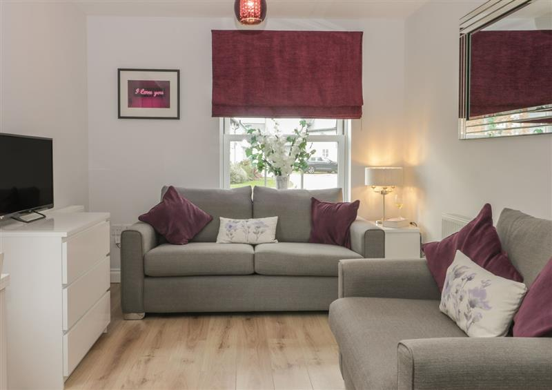 The living area at 12 Perran Court, Filey