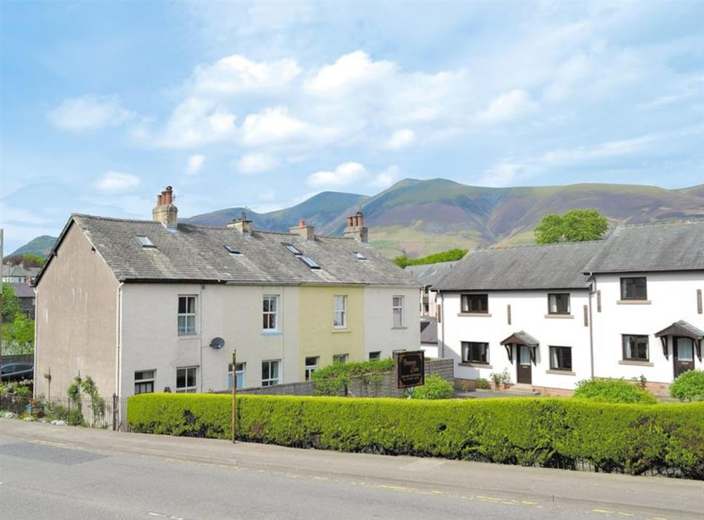 2nd house from the left in the row of four at 14 Greta Villas in Keswick, Cumbria