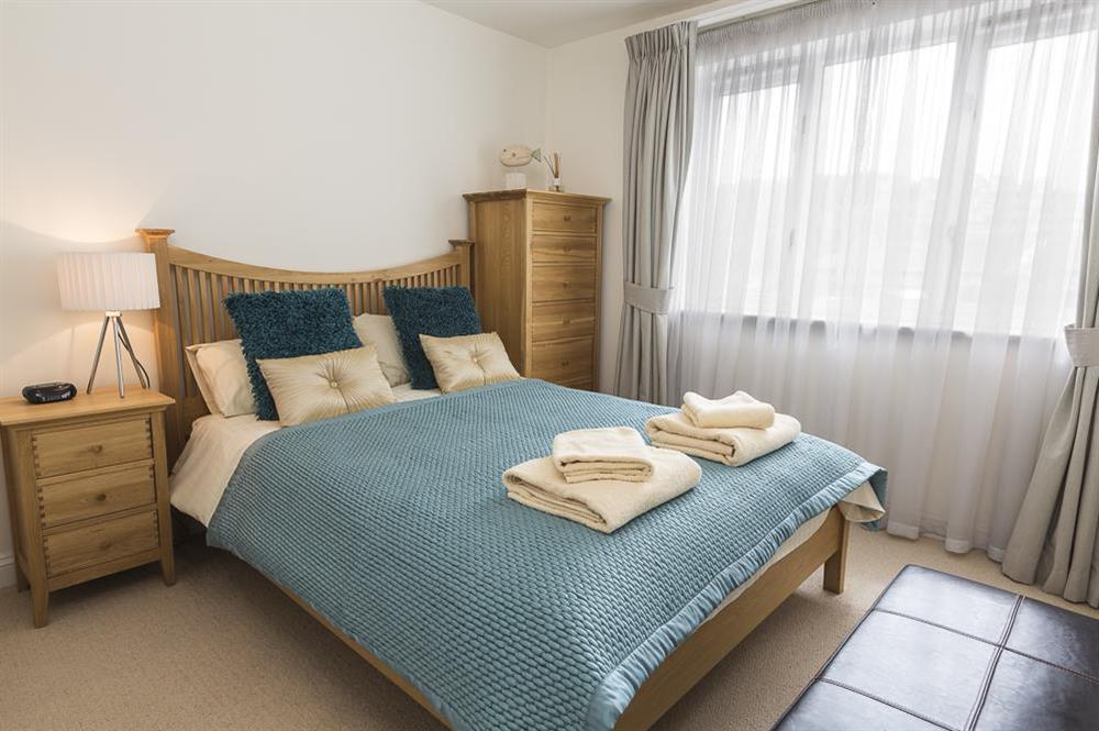 Good sized bedroom with double bed with views across to the river at 16 Dartmouth House in , Dartmouth