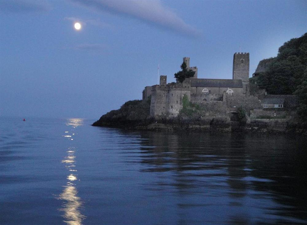 Dartmouth Castle by moonlight at 1B Mayflower Court, Dartmouth