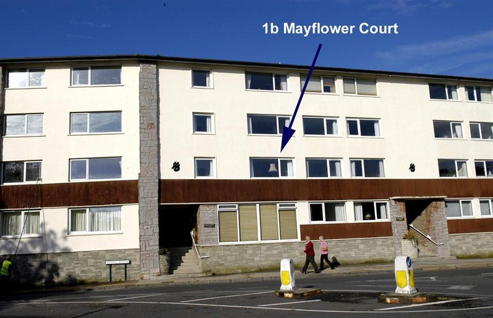 The exterior arrowed at 1B Mayflower Court, Dartmouth