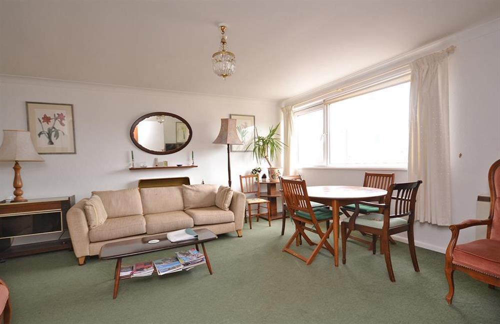 The living room at 1B Mayflower Court, Dartmouth