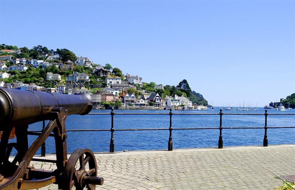 Canon on the quayside looking out to the harbour entrance at 1C Mayflower Court, Dartmouth