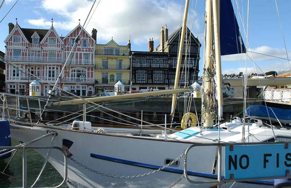 Historic waterfront buildings seen from the pontoon, Dartmouth at 1C Mayflower Court, Dartmouth