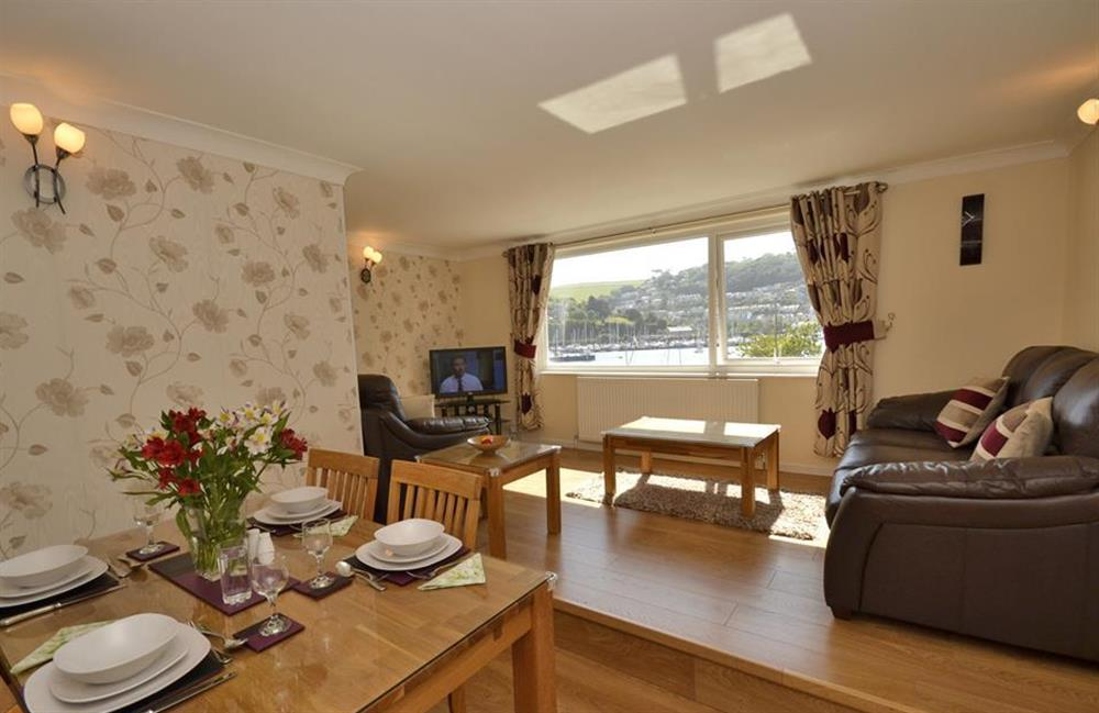 The lounge and dining area at 1C Mayflower Court, Dartmouth