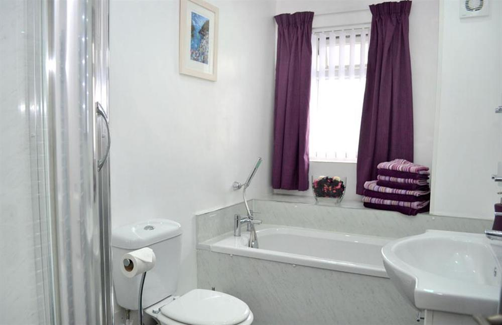 The new bath and shower room at 1C Mayflower Court, Dartmouth