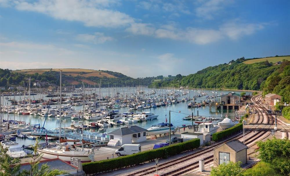 The steam railway route from Kingswear at 1C Mayflower Court, Dartmouth
