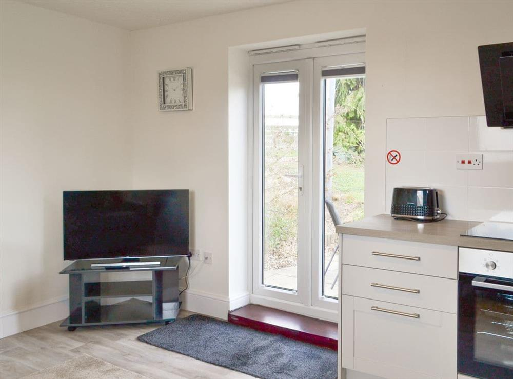 Open plan living space at 2 Bell Water Holiday Cottages in Midville, near Boston, Lincolnshire