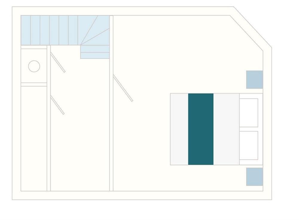 2 Castle Cottage Floor Plan - First Floor at 2 Castle Cottage in Bow Creek, Nr Totnes, South Devon., Great Britain