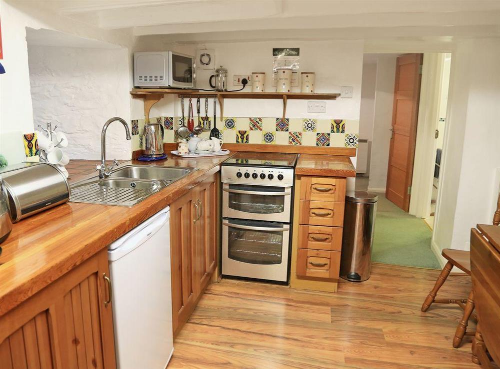 Kitchen at 2 Castle Cottage in Bow Creek, Nr Totnes, South Devon., Great Britain