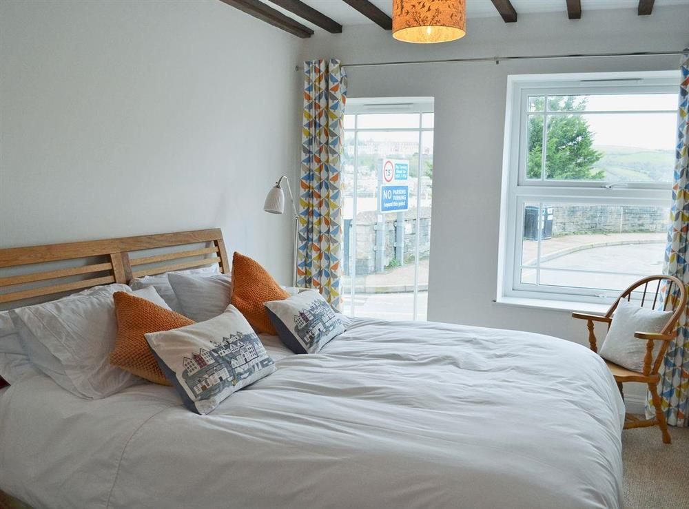 Tastefully furnished double bedroom at 2 College View Lower Apartment in Kingswear, Devon