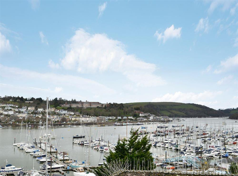 Wonderful views from the upper floor at 2 College View Upper Apartment in Kingswear, Devon