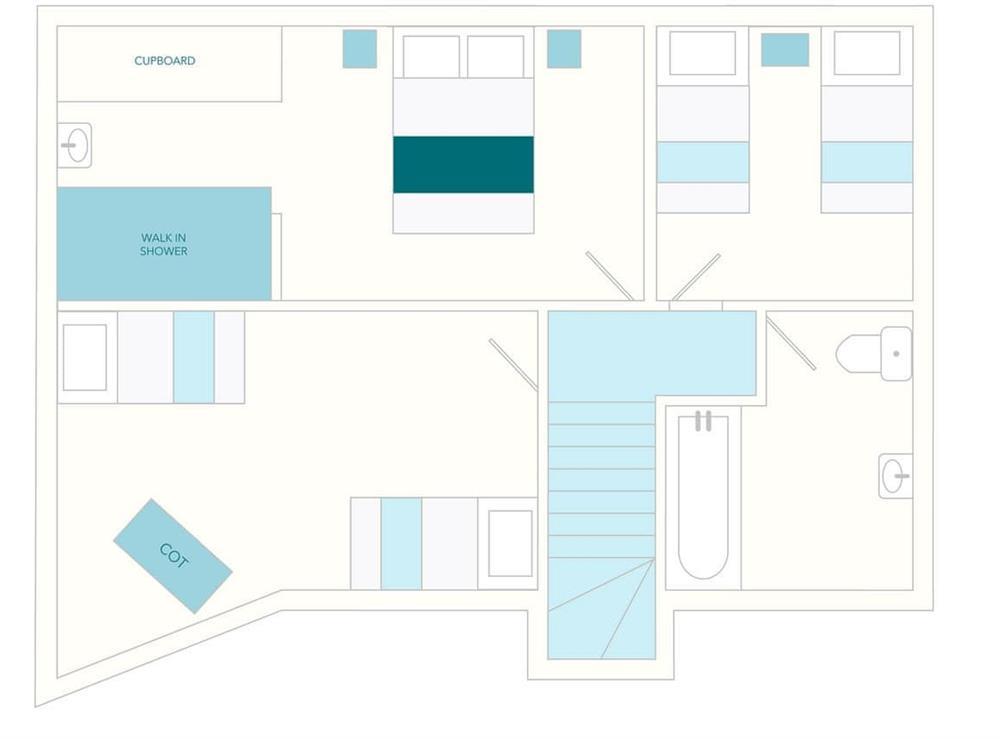 2 Salle Cottage Floor Plan - First Floor at 2 Salle Cottage in Bow Creek, Nr Totnes, South Devon., Great Britain