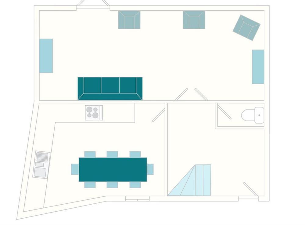 2 Salle Cottage Floor Plan - Ground Floor at 2 Salle Cottage in Bow Creek, Nr Totnes, South Devon., Great Britain
