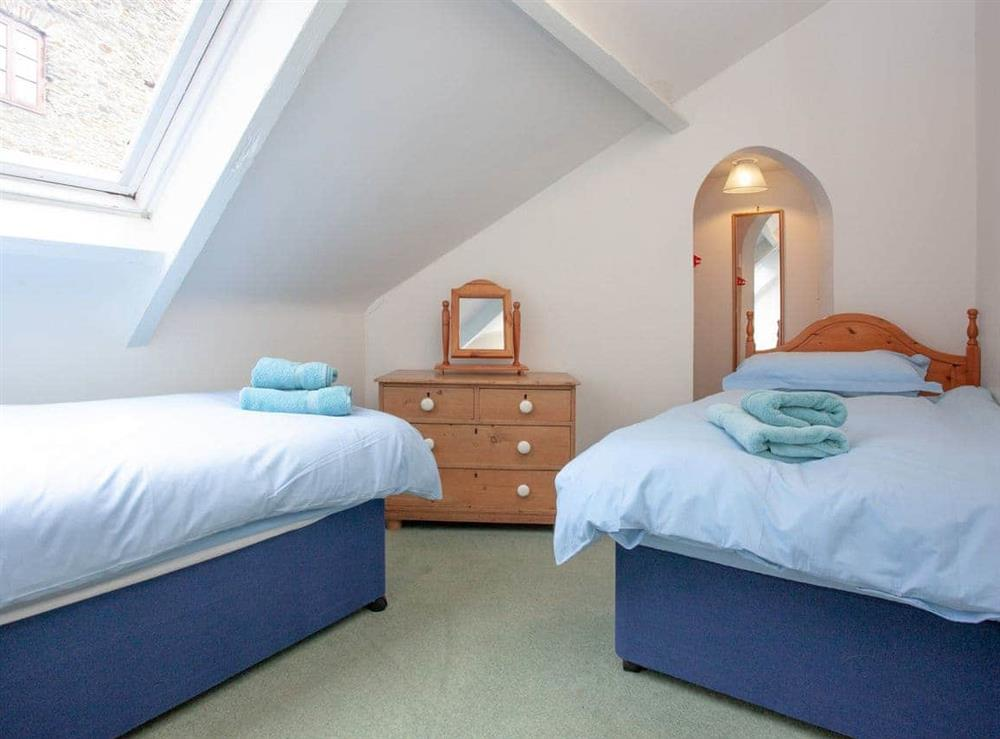 Twin bedroom at 2 Salle Cottage in Bow Creek, Nr Totnes, South Devon., Great Britain