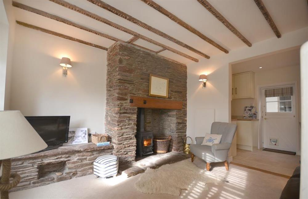 The comfortable and tastefully modernised lounge at 2 South View Terrace, Slapton