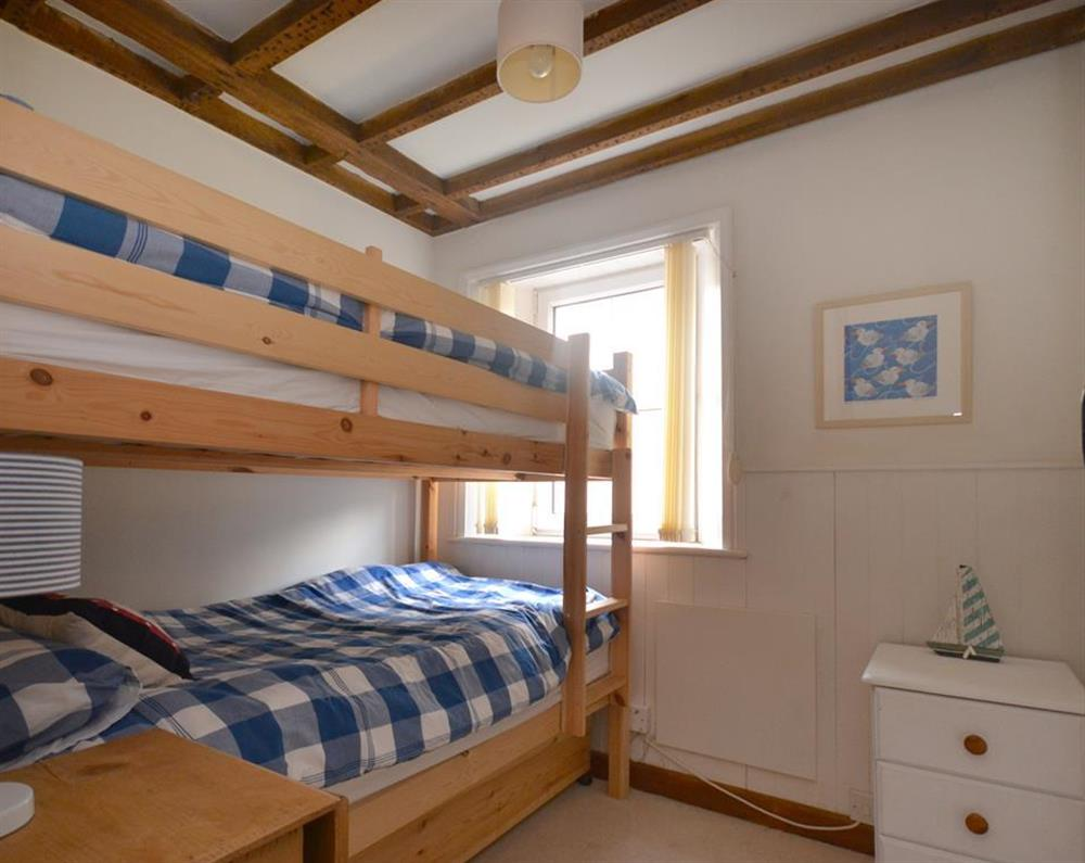 The comfortable bunk room at 2 South View Terrace, Slapton