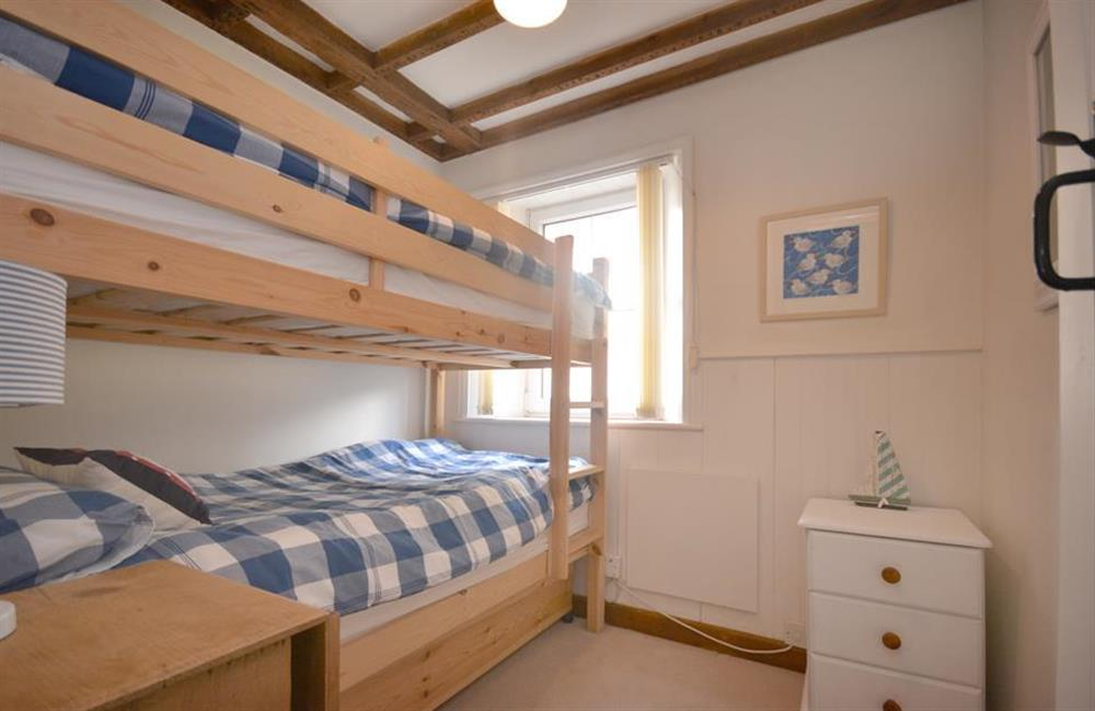 The light and bright bunk room with full size bunks at 2 South View Terrace, Slapton