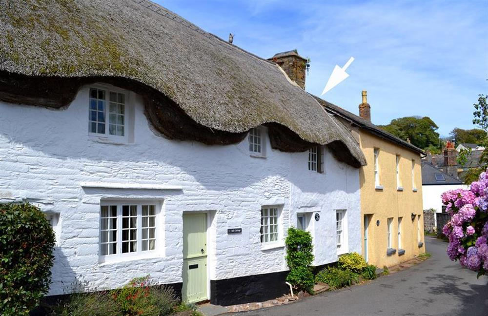 2 Vale Cottages, shown with an arrow at 2 Vale Cottage, Slapton