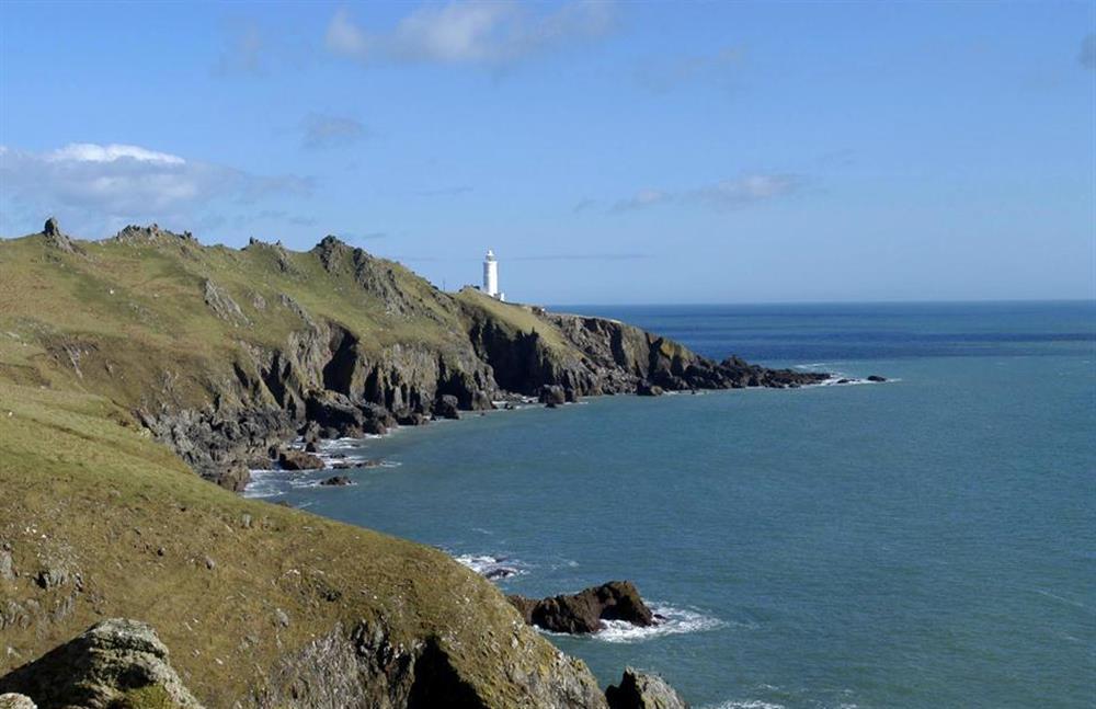 Start Point lighthouse.  A great nearby coastal walk at 2 Vale Cottage, Slapton