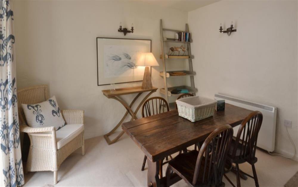 The dining room at 2 Vale Cottage, Slapton