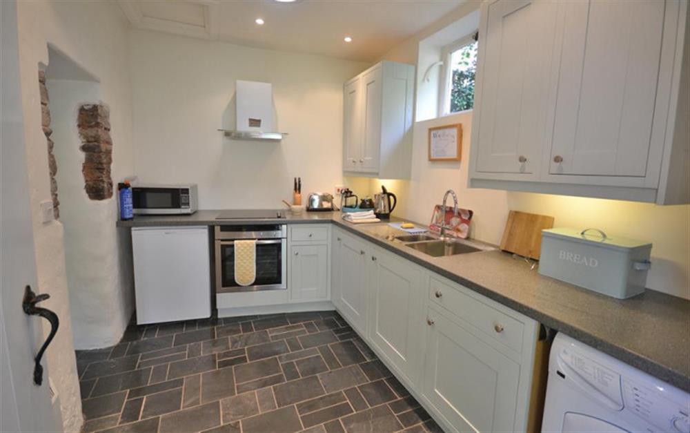 The modern kitchen at 2 Vale Cottage, Slapton
