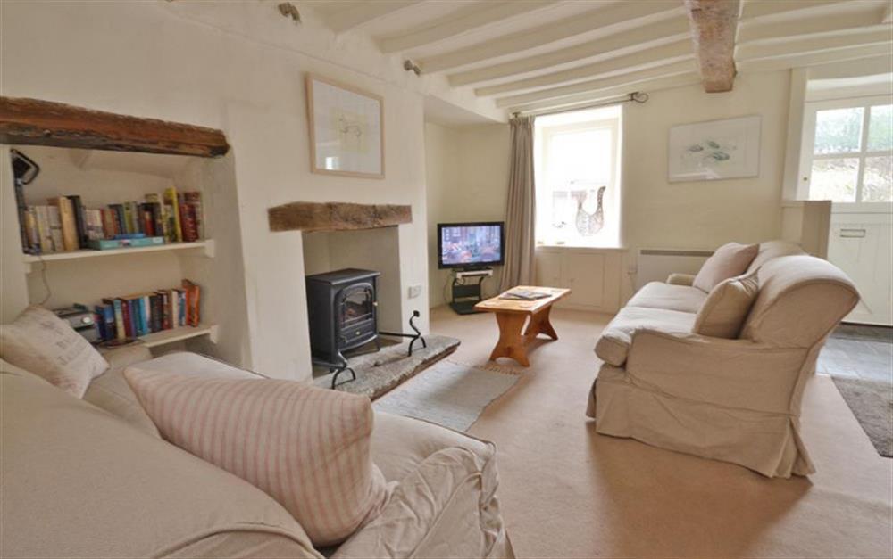 The sitting room at 2 Vale Cottage, Slapton