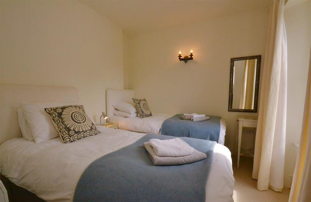 The twin bedroom at 2 Vale Cottage, Slapton