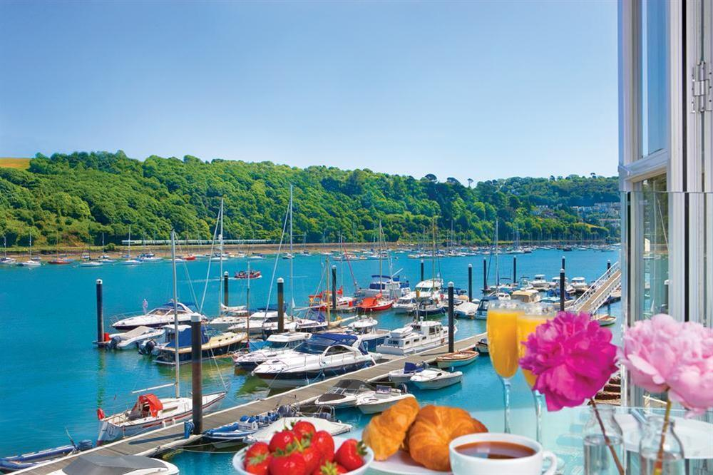 Enjoy the lovely views from this apartment over the River Dart at 21 Dart Marina in Sandquay Road, Dartmouth