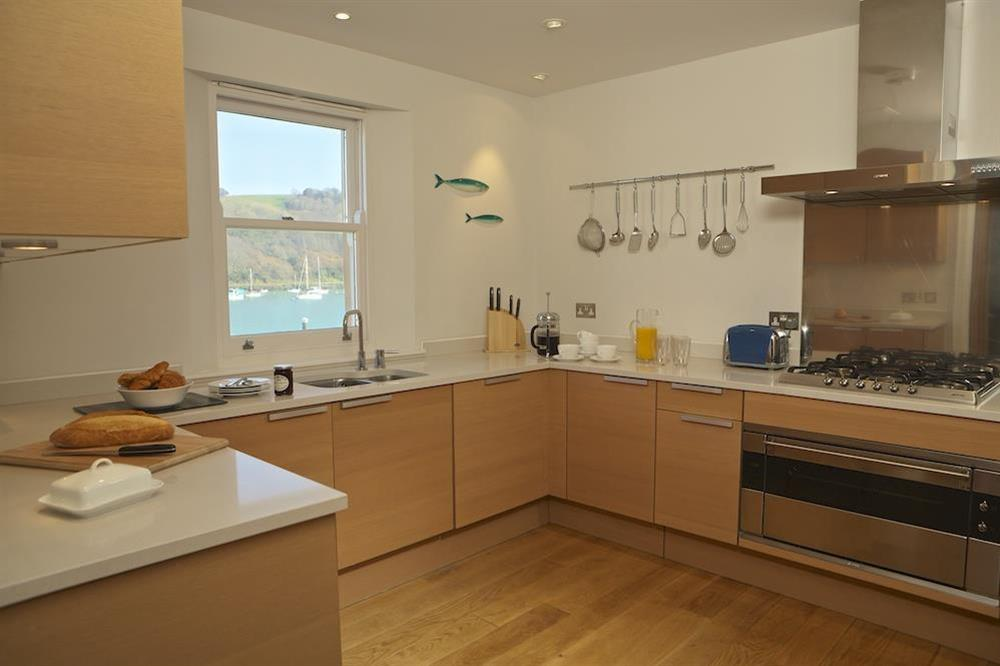 Kitchen with Poggenpohl units at 21 Dart Marina in Sandquay Road, Dartmouth