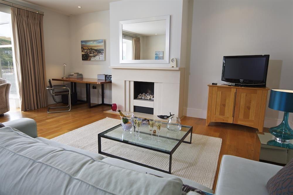 A stylish, elegant lounge at 22 Dart Marina in , Dartmouth