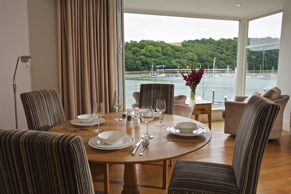 Dining area with views over the River Dart at 22 Dart Marina in , Dartmouth